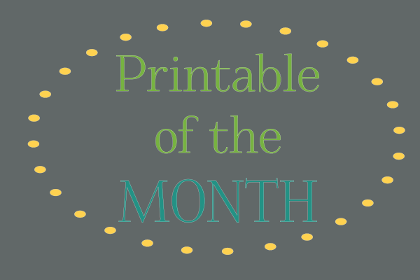 Monthly feature where you can get your free, personalized copy of the printable for that month. | ScatteredSquirrel.com