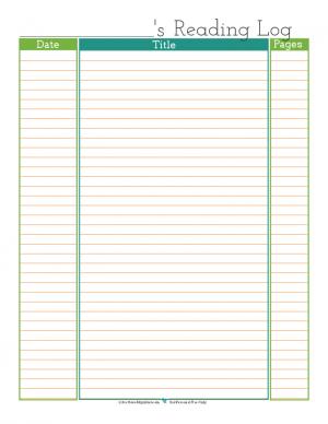 free printable reading log | ScatteredSquirrel.com