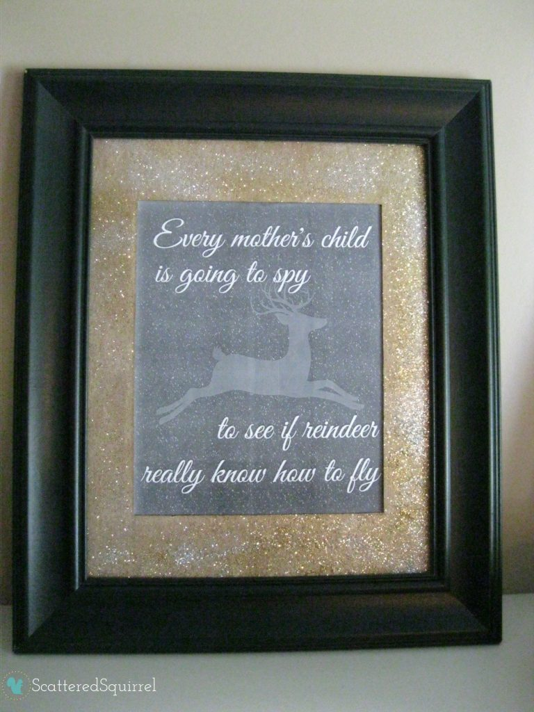 Printable quote framed and on the mantel. | ScatteredSquirrel.com