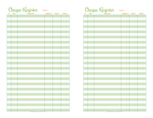 Free Printable Half Size Cheque Register | ScatteredSquirrel.com