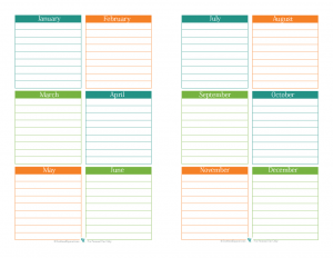 Free printable, half size, special dates. |ScatteredSquirrel.com
