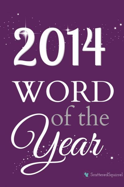word of the year 2014 | ScatteredSquirrel.com