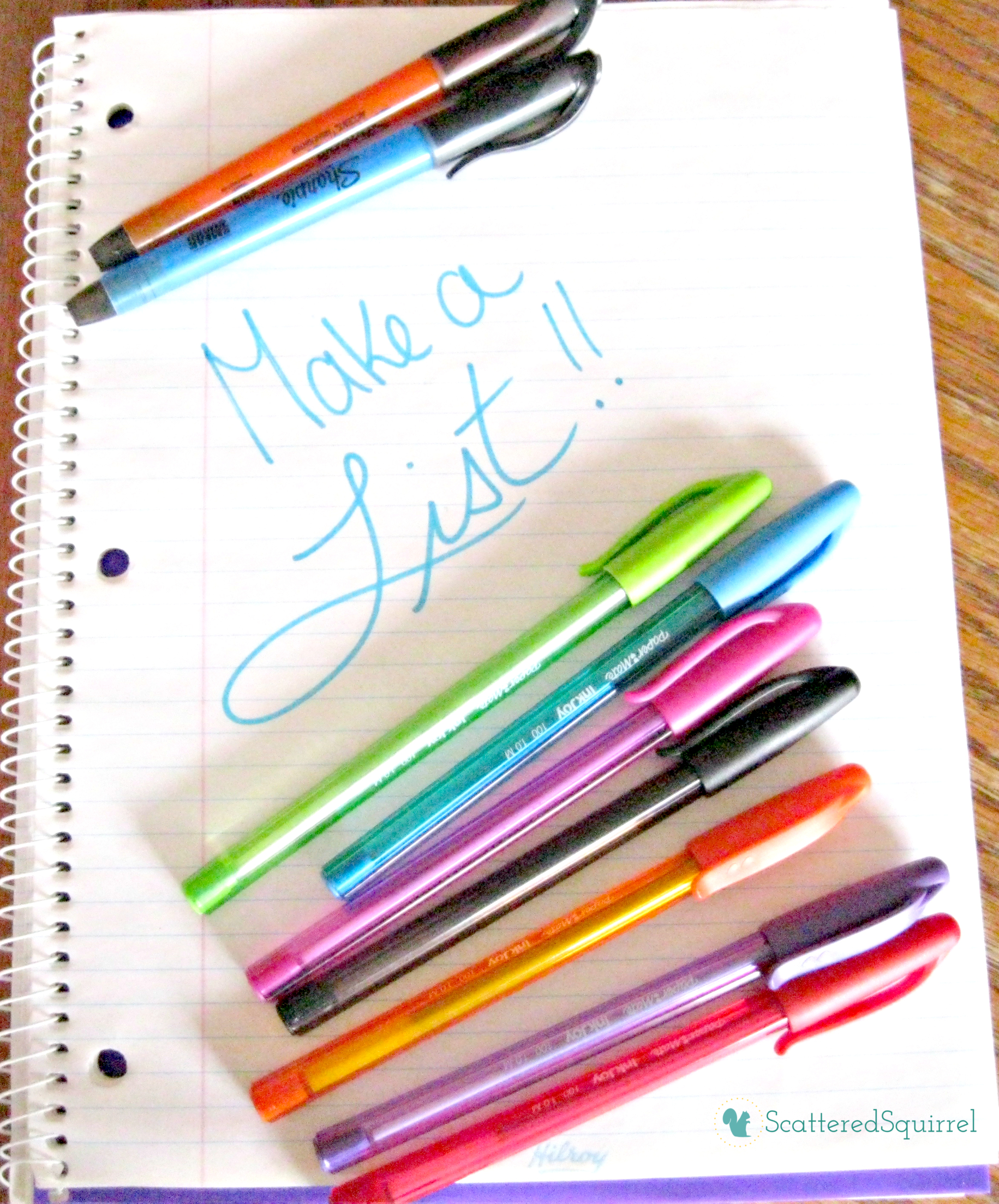 If you're feeling overwhelmed by everything you feel you need to do, gather some supplies, take some time, and make a list! | ScatteredSnippets