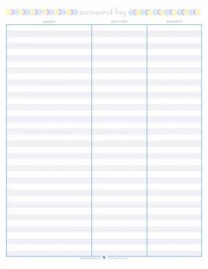 Hilaire image inside printable password log