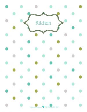 free printable divider pages for home organizing planner with polkadot background. | ScatteredSquirrel.com
