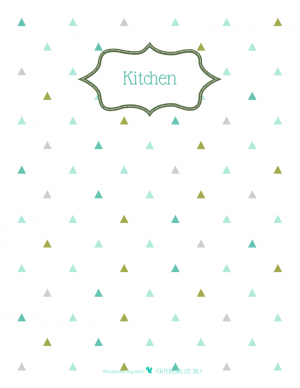 free printable divider pages for home organizing planner with triangle background. | ScatteredSquirrel.com