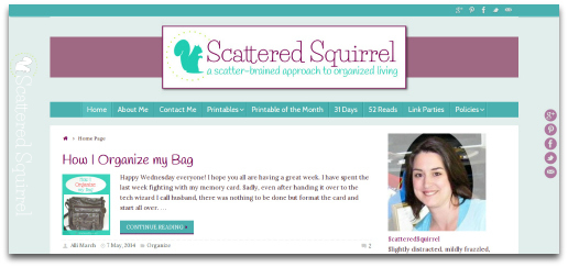 The blog got a little bit of a facelift and I'm loving the new, lighter look. | ScatteredSquirrel.com