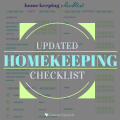 Free Updated Homekeeping Checklist Printable | ScatteredSquirrel.com