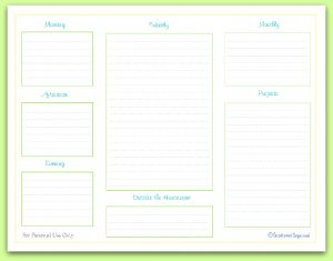 free fill in the blanks printable, daily weekly cleaning checklist, |ScatteredSquirrel.com