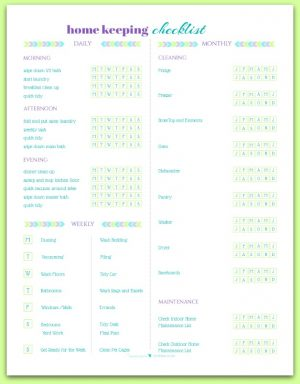 Home Management - Free Printables