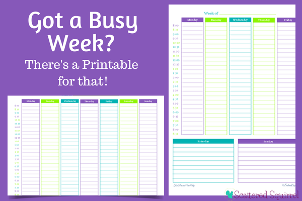 Got a Busy Week? There's a Weekly Planner for That! - Scattered ...