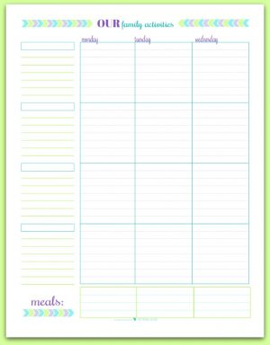 graphic relating to Free Printable Weekly Schedule identify Weekly Planner Printables Unique Planner