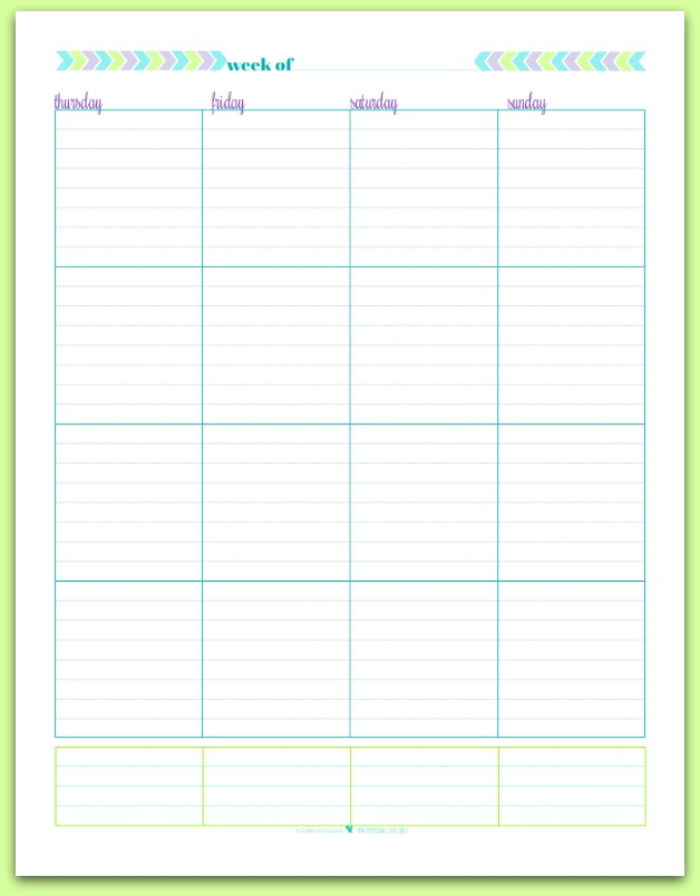 Weekly Printable Planner/page/2 | Search Results | Calendar 2015