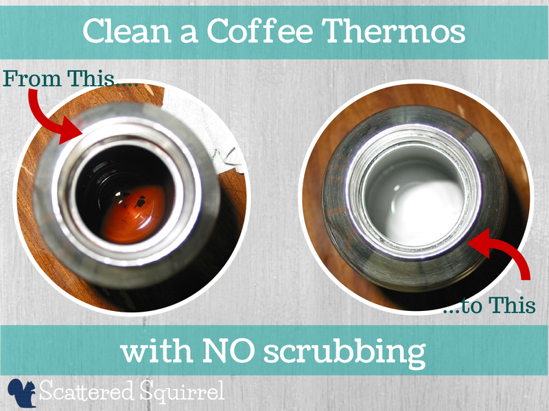 No scrubbing required to make your thermos look like new.