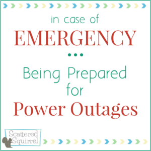 Items you need and steps to take towards being prepared for power outages.