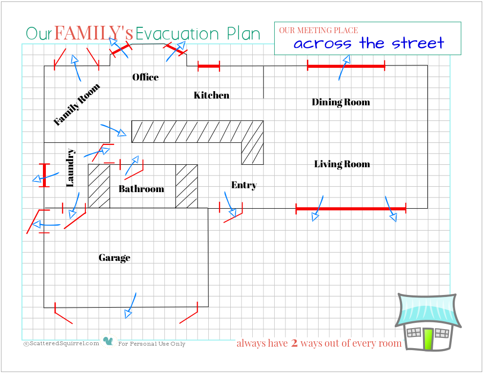 Fire safety being prepared for house fires scattered for How to make a home fire escape plan