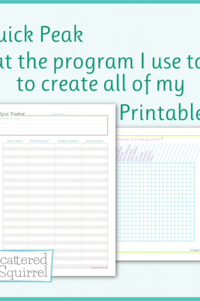 A quick peak at the program I use to make all my printables,