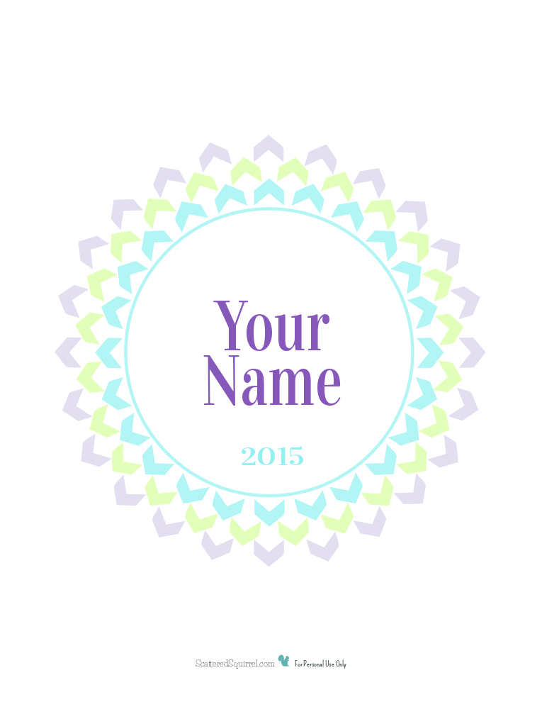 This personalized 2015 cover page printable is the perfect finishing touch for your 2015 planner. From now until the end of 2014 you can have it personalized with your name, as my gift to you!