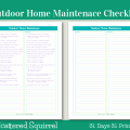 Day 20- Outdoor Home Maintenance Checklists- Keep track of those seasonal outdoor maintenance jobs are getting done with one of these handy checklists.