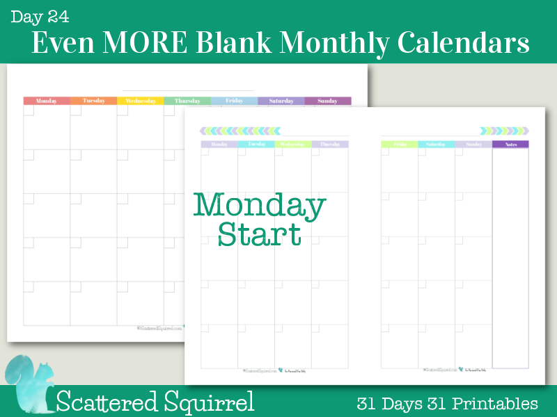 Monday Thru Friday Printable Calendar 2016 | Calendar Template 2016