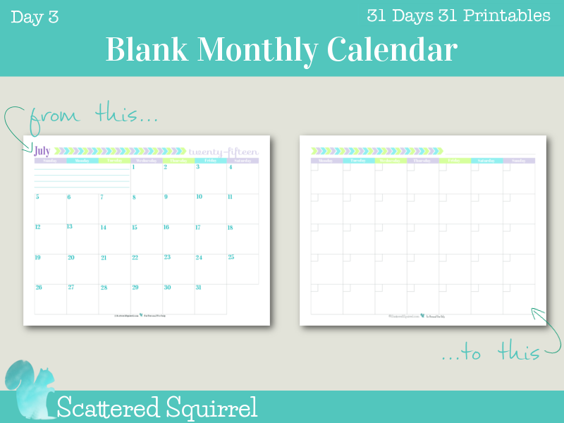 day 3 printable blank monthly calendar this one starts on a monday