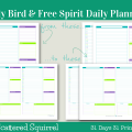 Day 4- Early Bird Daily Planners- these printable daily planner pages are dated to start at 6:30 am. I know that sometimes our lives revolve around wonky hours, and sometimes we just don't want time constraints, so I included an untimed version as well.