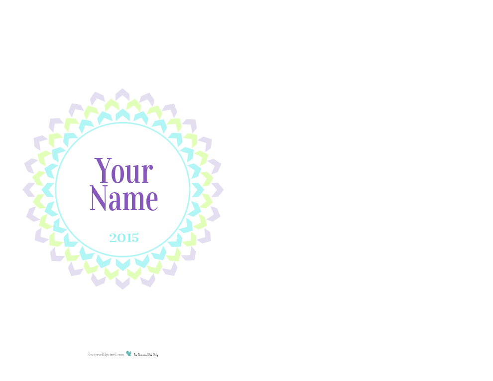 This half-size personalized 2015 cover page printable is the perfect finishing touch for your 2015 planner. From now until the end of 2014 you can have it personalized with your name, as my gift to you!
