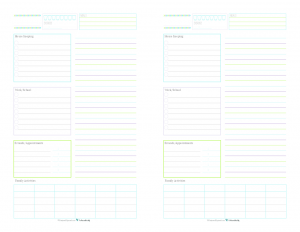These Half Size Daily Planner Printables Are A Great Way To Keep Track Of  Routine  Daily Organizer Template