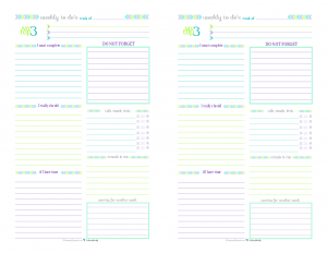 Half-Size Printable Weekly To Do List for those weeks when you don't need a planner, just a list.