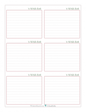 Use this handy printable to keep track of what is on each person's wish list this year.