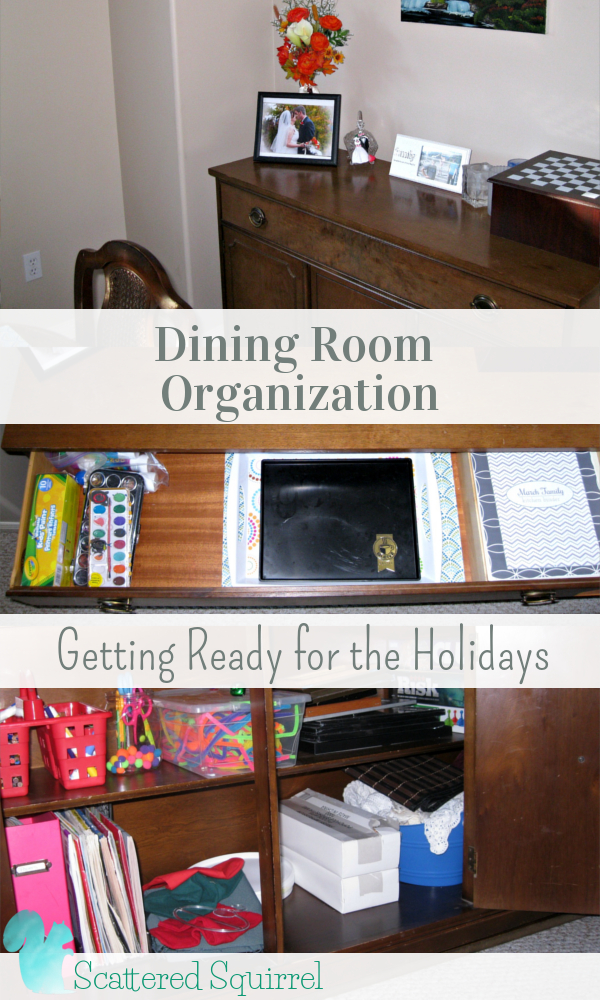 Dining Room Oganizing Getting Ready for the Holidays: A little decluttering and a little reorganizing and our dining room is ready for the holidays,