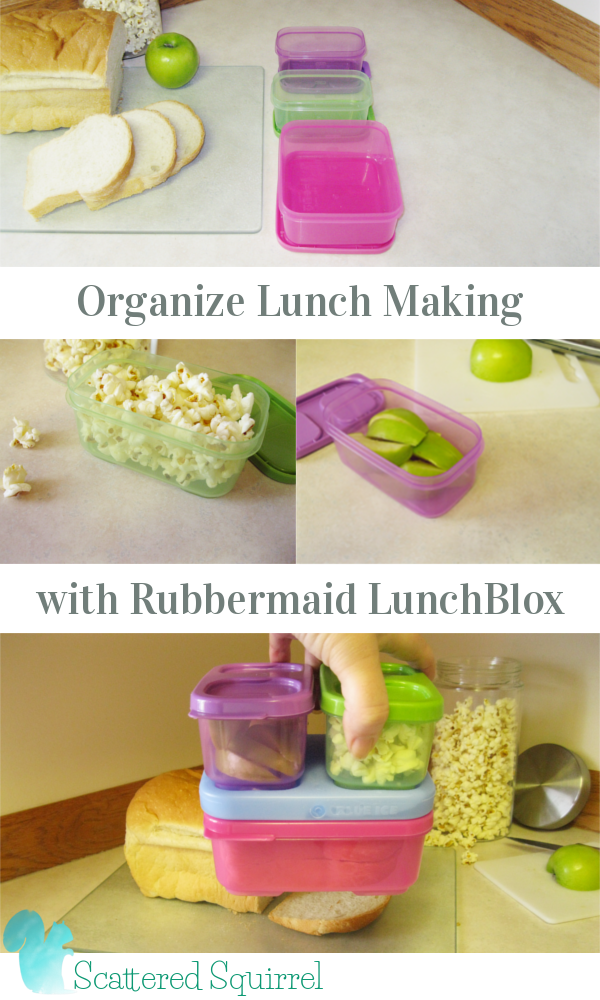 I love it when a product is desinged to make things easy. Not only are these containers great for putting together in a lunch box, you can fill them up ahead of time and they will stack neatly in the cupboard or fridge, making lunch making an organized breeze.