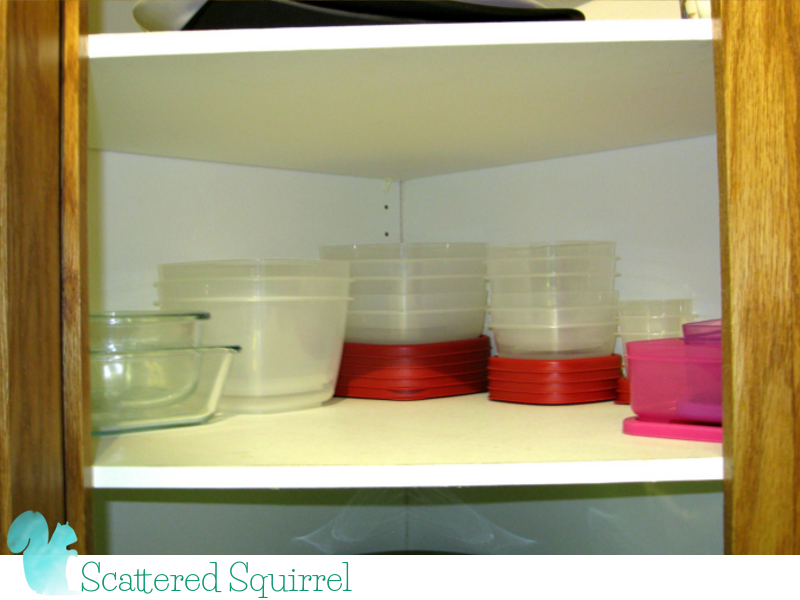 containers neat in the cupboard