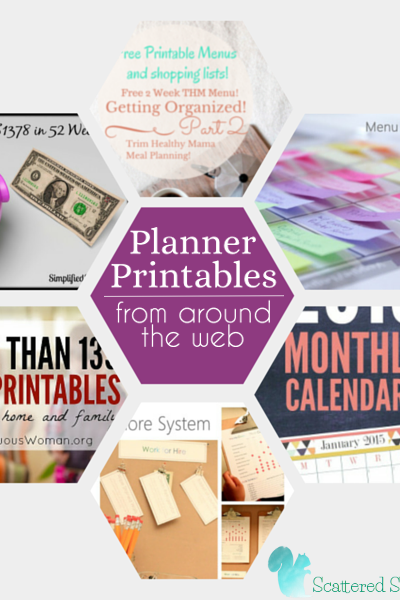 A round up of fantastic resources for planner printables from around the web.