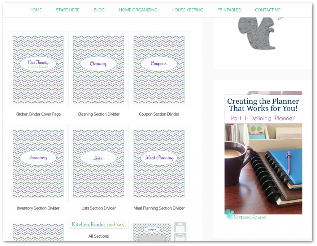 The galleries, especially the printables galleries are now neater and a little more streamline to make searching for the printable you need even easier.