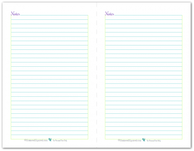 These Half-Size Note Page printables would make a great addition to a planner, hmb, journal or just simply held together with a binder clip and placed in area where you normally need some note paper.