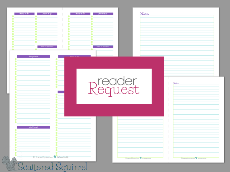 Notes and To-Do Lists - I love responding to requests from my readers, and these new printables are no exception. Check out the new note pages and to do list printables and have fun adding them to your planner or using them around the house.