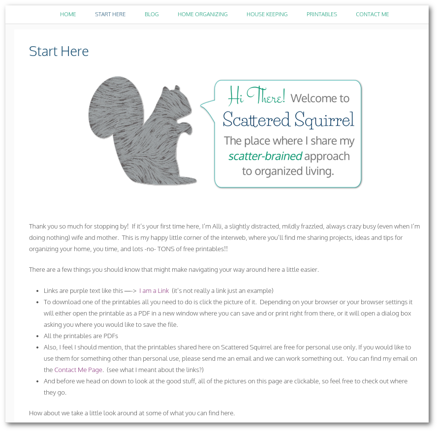New to our site? Stop by the new Start Here page to get an idea of how to use the site and what you'll find here.