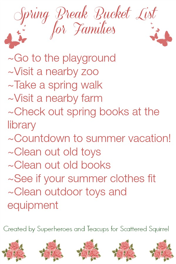I can't wait to use this free printable Spring Break Bucket List for Families to fit in some family fun this spring break.