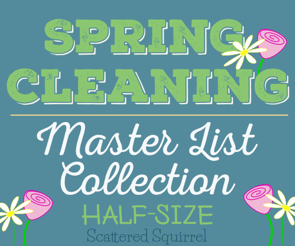 All the Half-Size Spring Cleaning master list printables in one handy package.