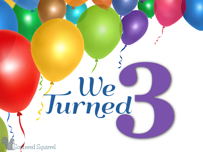 Just a little post to commemorate our third blogiversary!