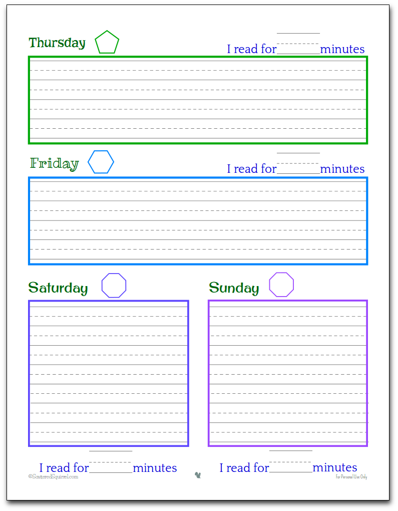 Planner Printables For Kids