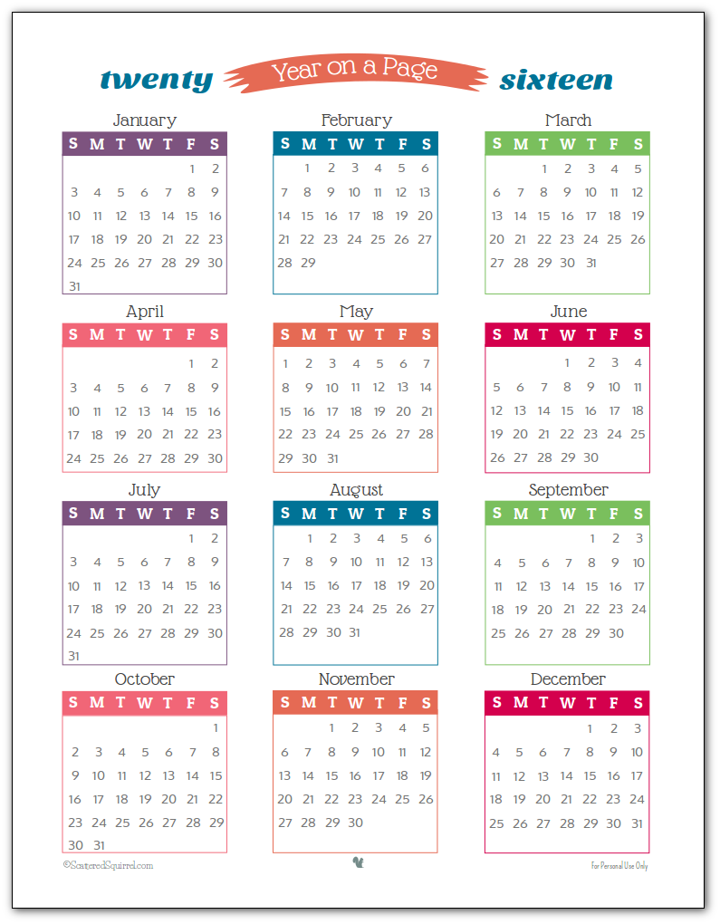 2016 Calendar 2 Per Page | Search Results | 2016 Calendar Printable