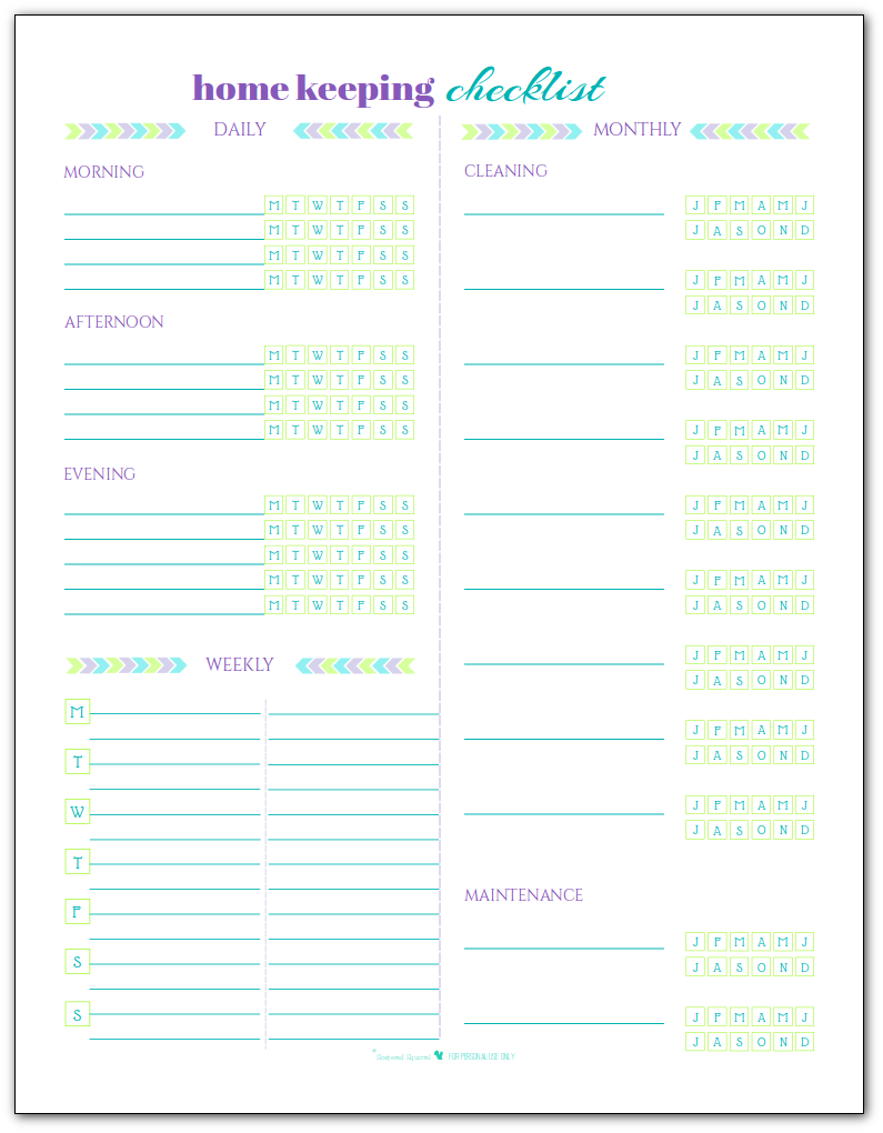 image about Flylady Printable known as Blank Residence Holding List Printables