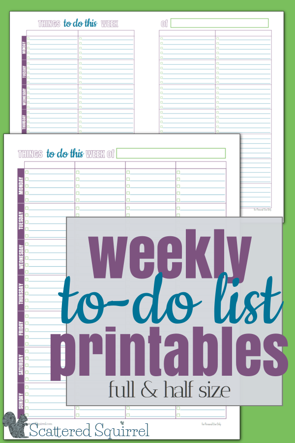 These free printable weekly to-do lists have so many uses. Sometimes a to-do list needs a little structure, and more importantly, a limit. If we give ourselves a limit, we start to prioritize our tasks, and best of all, we set up ourselves up to succeed!