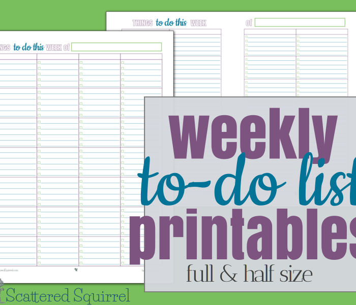 Weekly To-Do List Printables – and an AWESOME New Bundle.