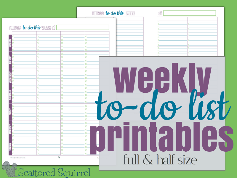 Sometimes our to-do lists could use a little structure. Even something as simple as categories and limits to what can be in each are enough to help us stay on track without feeling overwhelmed. These free printable to-do lists should help with that.