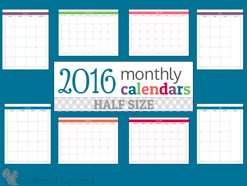 "Monthly Calendar Half Page : Search results for ""free half page calendars calendar"