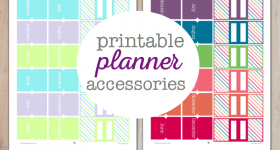 Printable Planner Accessories to help you set up and organize your personal planner.
