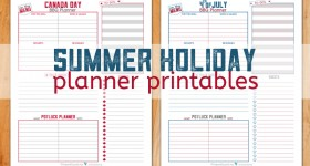 A BBQ with family and friends is a great way to kick off the summer and celebrate your nation's birthday! Use these handy holiday planner printables to help you plan the perfect BBQ!